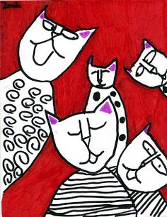 """This lesson would be a great introduction to Andy Warhol.  Read the book """"Uncle Andy's Cats"""" by James Warhola, Warhol's nephew. The story tells a true story about Warhol, his mother and their cats."""