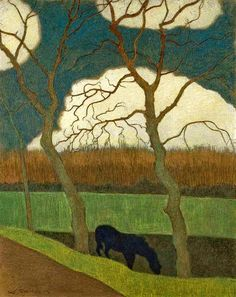 Spilliaert, Leon (Belgian, 1881-19460 - The Mare - s.d. (by *Huismus)