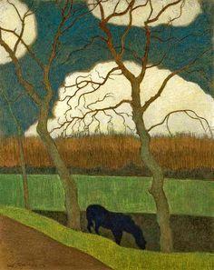 Spilliaert, Leon (Belgian, 1881-19460 - The Mare - s.d. (by *Huismus)