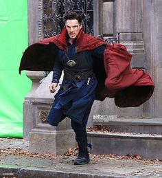 ニュース写真 : Actor Benedict Cumberbatch is seen on the set of...