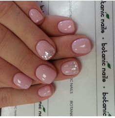 Light Pink Glitter Nails More