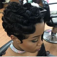 Short Black Hairstyles, Short Curly Hair, Pretty Hairstyles, Short Hair Cuts, Girl Hairstyles, Curly Hair Styles, Natural Hair Styles, Thin Hair, Vintage Hairstyles