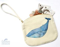 Sending out lots of #Whale #Purses today - these are perfect for carrying around coins make-up or accessories are make from #organic cotton and have a handy wrist strap! Ceridwen Hazelchild Design