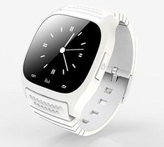 ZHCKJ Luxury Sport Bluetooth Wristwatch Smartwatch M26 with Dial SMS Remind Pedometer for Android Smartphones(White). Sync music Sync phone clock to watch. Sync message,With pushing message, such as MMS, QQ, Wechat, news title,. Android smart watch installed APP can support information push,don't support Ios APP installed. Anti-lost alarm function: When cellphone left watch alarm automatically, after a certain distance to avoid lose the phones. Dial Size: 5.02 x 4.82 x 1cm / 1.98 x 1.9 x...