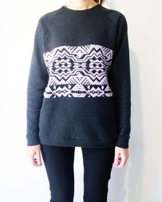 Sweatshirt Knitted Rhapsody women sweatshirt handmade by JojoBlanc