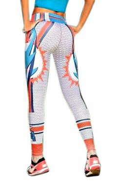 Sport your favorite teams colors and symbol with these one of kind and EXCLUSIVE leggings. Athletic Gear, Athletic Outfits, Athletic Clothes, Fall Football, Football Team, White Leggings, Leggings Are Not Pants, Miami Dolphins Apparel, Dolphin Quotes