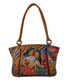 Look what I found on #zulily! Anna by Anuschka Antique Rose Safari Organizer Hand-Painted Leather Tote by Anna by Anuschka #zulilyfinds