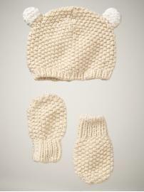 hat and mitten set