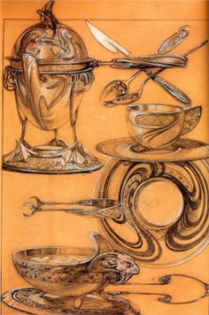 Silver Study Alphonse Mucha