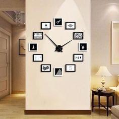 Unique Home Office DIY Creative Photo Frame Wall Clock Set – En Güncel Araba Resimleri Home Office Design, Home Office Decor, House Design, Office Setup, Office Organization, Office Ideas, Contemporary Home Decor, Unique Home Decor, Modern Wall