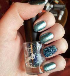 Зеленый икорный маникюр ::: onelady.ru ::: #nail #nails #nailart #manicure