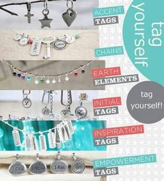 Origami Owl's #Tagged Collection Inspiration - Empowerment - Initial - Accent   Made of Pewter - #MadeintheUSA  $8 - $12 www.traceydani.origamiowl.com