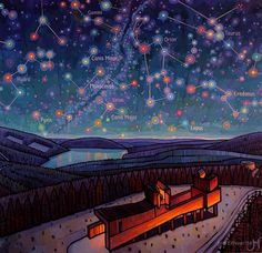 Kielder Observatory - Jim Edwards Norwich School, Angel Of The North, Sky Full Of Stars, Professional Painters, Colorful Artwork, Dark Skies, Newcastle, Astronomy, Posters