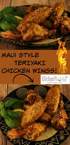 Kalbi Chicken Wings --  easy to make Teriyaki Chicken Wings from famous Azekas Ribs on Maui : kitchenhui