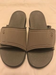 cfab1613b67d NEW VIONIC KIWI Unisex Motion Control Orthaheel Slides Camel Men 9 Ladies  10  Vionic