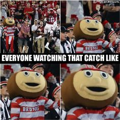 9-17-2016 GAME #3 THE VS. OKLAHOMA EVERYONE WATCHING THAT CATCH LIKE.