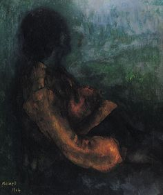 Isidre Nonell,Gitana incinta,1904, Olio su tela,cm 95x80,Colección Carmen Thyssen-Bornemisza,in deposito al Museo Thyssen-Bornemisza,Madrid.