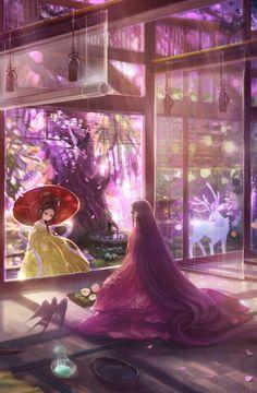 Fantasy Book Covers, Classic Artwork, Japanese Artwork, Cross Stitch Art, China Art, Anime Art Girl, Manga Art, Female Art, Fantasy Art