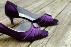 Purple Wedding Shoes low heel -- 1.75 inch heel shoes