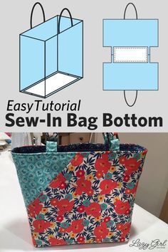This is a quick and easy way to add structure to your next purse project. This tutorial will show you how to make the perfect sew-in bag bottom support, so that your favorite handbag has built-in structure! The steps are simple: measure, cut, and sew stiff interfacing into the bottom of your bag for added stability. It's as easy as 1 - 2 - 3!! Purse Patterns, Sewing Patterns Free, Free Sewing, Fabric Patterns, Kids Patterns, Free Pattern, Sewing Hacks, Sewing Tutorials, Sewing Tips