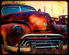 Miss Jasmine Take Two - Rusty Old Car - Oldsmobile - Fine Art Photograph by Kelly Warren