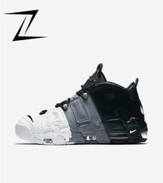 64d2ad75d489 Wholesale Nike Air More Uptempo Tri-Color Black Cool-Grey-White For Sale