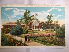 Vintage Museum Exposition Park Los Angeles, CA postcard postmarked Oct. 27 1926