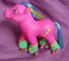 MLP My Little Pony Vintage 1992 VGC G1 ROLLERSKATES Ponies Melody Pink Blue | eBay