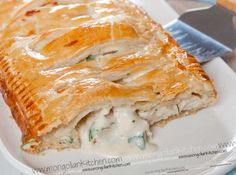 Creamy Chicke Pie Well this is like a big sausage roll filled with creamy chicken with fresh herbs..what is there not to like?