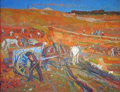 Carrières d'argile à Saint-Henri-Huile sur toile, 1906 (150x120 cm)- Astruc