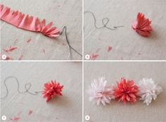 Fabric Flower Tutorial - larger scale for the backs of the chairs at the ceremony