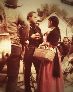 """Marlon Brando withPina Pellicer on the set of """"One eyed-Jacks"""" C.1961."""