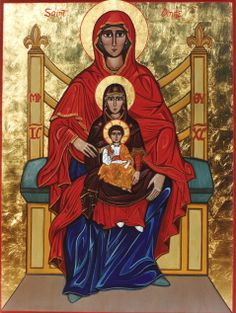 Happy Feast Day of Saints Joachim & Anne, Parents of the Blessed Virgin Mary ~ St. Anne icon