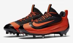 Nike Air Huarache 2K Filth Elite Low Metal Baseball Cleats Orange 807129-080