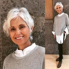 Fall is the time for #shirtsandsweaters worn New School in #recycledcashmere #lessbydesign #eileenfisherny