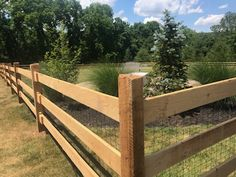 We have had another very busy week here at Tri-Boro...it's been a wood week for sure.  Have a great weekend! Rustic Fence, Fence Styles, Backyard Fences, Boro, Landscape, Scenery, Landscape Paintings, Corner Landscaping