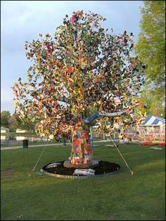 Follow the link to read about The Tree Project. It's more than folk art and involved 23 countries and 39 states.