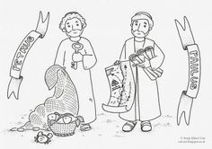 Petrus and Paulus - coloring page - The House of Häusl-Vad