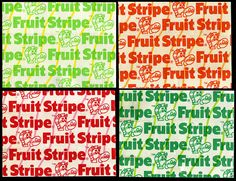 Fruit Stripe gum wrappers