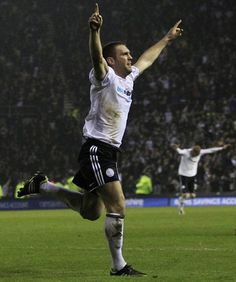 Bucko scores the winner at Pride Park Stadium