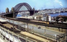 Tram 1212 at Milsons Point Station Harbor Bridge, Sydney Harbour Bridge, Old Pictures, Old Photos, Over The Bridge, Arch Bridge, Middlesbrough, Past, Old Things