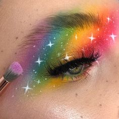 Blend a rainbow 🌈✨🎨🦄🧚🏼♀️ Inspired by & ————————————————— EYES ultimate brights palette… Beauty Bay, Beauty Skin, Beauty Makeup, Makeup Art, Rainbow Makeup, Colorful Eye Makeup, Makeup Inspo, Makeup Inspiration, Makeup Ideas