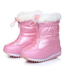 Candy Color Girls Snow Boots Waterproof Winter Children Boots Plush Lining Warm  Shoes For Girl Skidproof - Kid Shop Global - Kids   Baby Shop Online - baby  ... 4607322dbfce