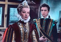 "Marina Vlady (as the Princesse de Clèves) & Jean-François Poron (as the Duc de Nemours) in ""La Princesse de Clèves,"" the classic 1961 film by Jean Delannoy based on the classic novel by Madame de Lafayette (1678)"