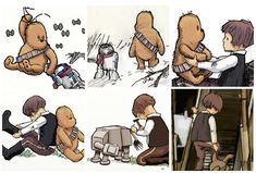 Pooh and Christopher Robin Star Wars style...