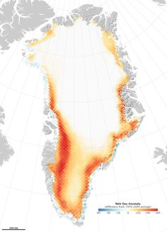 Infographic of the Day: Greenland Is Melting Away... The Greenland ice cap is dissolving faster than the Wicked Witch of the East in a downpour. Despite the obfuscations and lies of climate-change denialists, global warming is continuing at record levels, and the arctic regions are indeed melting at an incredibly fast pace. ... #Climate #ClimateChange #Enviroment