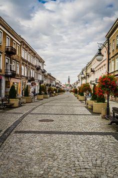 Zeromskiego street promenade in Radom, Poland