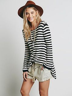 Free People Counting Stripes Swing Tunic at Free People Clothing Boutique