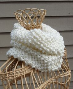 Cream Infinity Scarf by lovemyknits on Etsy, $25.00