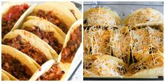 Taco anything is my favorite! These Oven Baked Beef Tacos are simple to make and make the perfect recipe for feeding a crowd! Slow Cooker Recipes, Beef Recipes, Cooking Recipes, Easy Recipes, Easy Meals, Mexican Dishes, Mexican Food Recipes, Casserole Recipes, Doritos Casserole